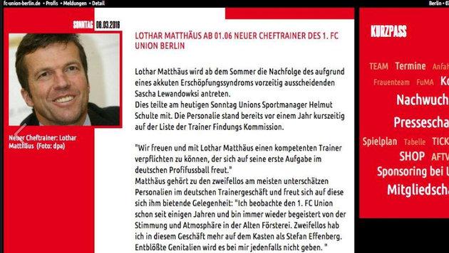 Aufatmen: Lothar Matthäus wird doch NICHT Trainer! (Bild: Facebook.com)