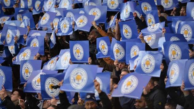 Leicester-Fans lösten Mini-Erdbeben aus (Bild: APA/AFP/OLLY GREENWOOD)