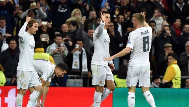 Real Madrid und Wolfsburg im Viertelfinale (Bild: AFP)