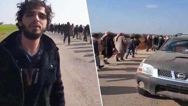 """""""Verrät dich jemand, werfen sie dich vom Dach"""" (Bild: YouTube.com/WarNewsTV)"""