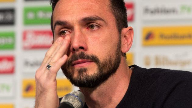 Video: Martin Stranzls tränenreicher Abschied (Bild: APA/dpa/Monika Skolimowska)
