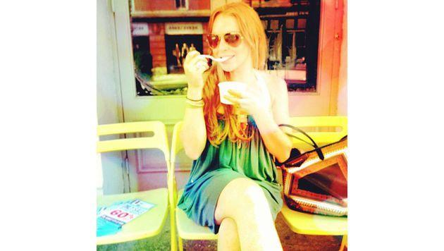 Auf welche Sorte Eis Lindsay Lohan wohl steht? (Bild: Viennareport)