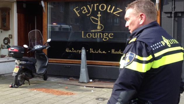 Amsterdam: Abgetrennter Kopf vor Bar gefunden (Bild: twitter.com/WintermanAD)