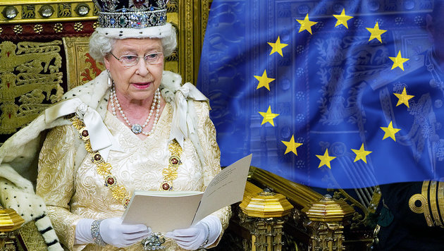 EU-Austritt der Briten? Queen dementiert Bericht (Bild: AFP/LEON NEAL/picturedesk.com, thinkstockphotos.de)