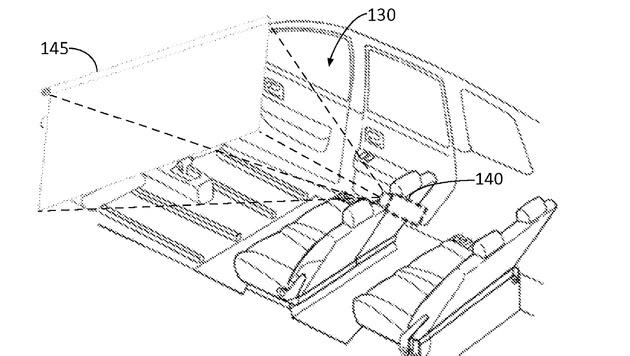 Ford will autonome Autos zu rollenden Kinos machen (Bild: uspto.gov)