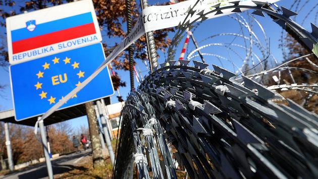 Slowenien verschärft seine Flüchtlingspolitik (Bild: AFP)