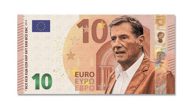 Auf der 10-Euro-Note wollen die Deutschen das Konterfei von Udo Jürgens erblicken. (Bild: Krone-Grafik)