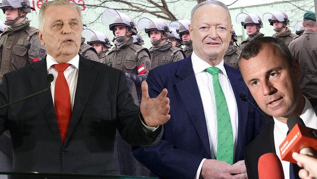 Hundstorfer, Khol, Hofer: Heer sofort fit machen! (Bild: Sepp Pail, APA/Fohringer, APA/Jaeger, APA/Techt)