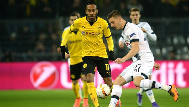 Wimmer kommt mit Tottenham bei BVB unter die Räder (Bild: APA/AFP/dpa/BERND THISSEN)