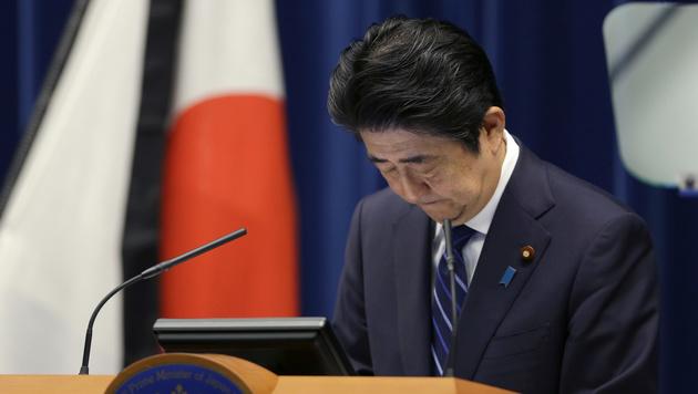 Ministerpräsident Shinzo Abe (Bild: AP)