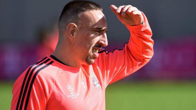 """Franck Ribery: """"In China hätte ich mehr verdient"""" (Bild: APA/AFP/CHRISTOF STACHE)"""