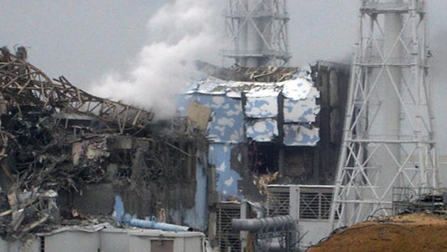 Das AKW Fukushima nach dem Tsunami (Bild: TEPCO/AFP/picturedesk.com)