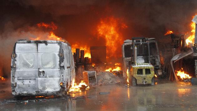 Technischer Defekt löste Brand bei Biogaswerk aus (Bild: Sepp Pail)