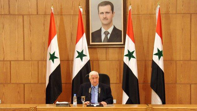 Außenminister Moualem stellt klar: Die UNO soll nicht über die Präsidentenwahl reden. (Bild: ASSOCIATED PRESS)