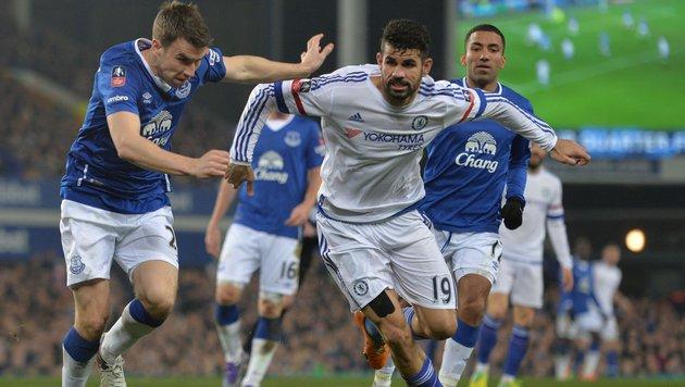 Everton wirft Chelsea im Viertelfinale aus FA-Cup (Bild: APA/AFP/PAUL ELLIS)