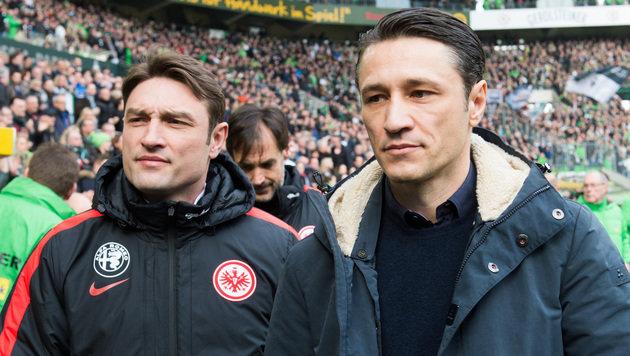 Niko Kovac (rechts) mit seinem Bruder Robert Kovac (Bild: AP)