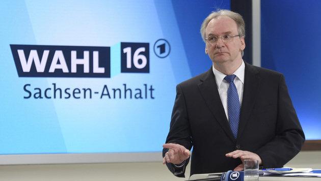 Reiner Haseloff konnte Platz 1 f�r die CDU in Sachsen-Anhalt verteidigen. (Bild: Associated Press)