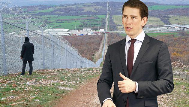 Neue Fluchtrouten: Kurz für weitere Grenzsperren (Bild: APA/AFP/Prime Ministers Press Office/Stringer, APA/DRAGAN TATIC)