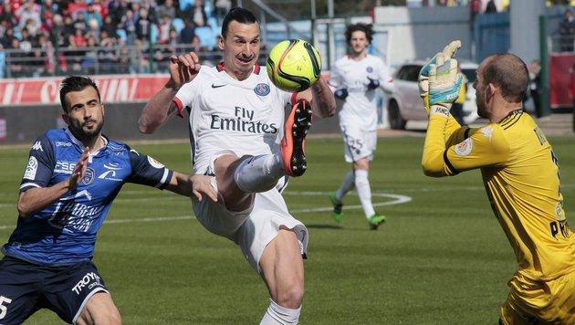 Viererpack von Zlatan - Paris SG ist Meister! (Bild: AFP or licensors)