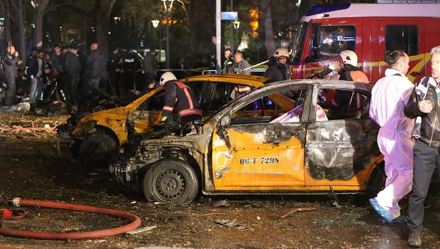 Ankara: Radikale Kurden bekennen sich zu Anschlag (Bild: APA/AFP/Erol Ucem)