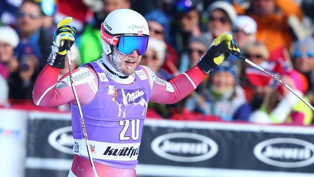 Vincent Kriechmayr Zweiter! Nur Jansrud schneller (Bild: GEPA)