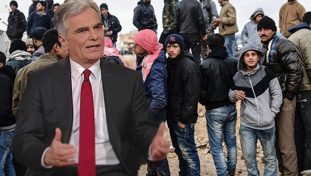"""Werner Faymann verteidigte in der ORF-Sendung """"Im Zentrum"""" die österreichische Flüchtlingspolitik. (Bild: AFP/BULENT KILIC, tvthek.orf.at)"""