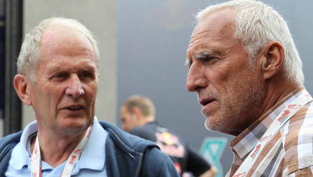 Helmut Marko (links) und Dietrich Mateschitz (Bild: GEPA)