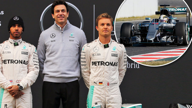 """Wolff: """"Es knistert zwischen Hamilton und Rosberg"""" (Bild: GEPA, AFP / JOSEP LAGO)"""