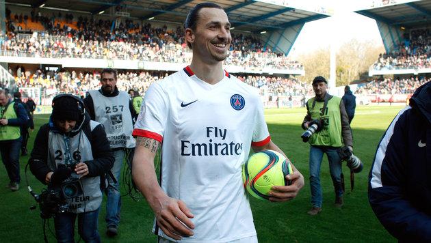 Zlatan Ibrahimovic deutet Abschied von PSG an (Bild: AP)