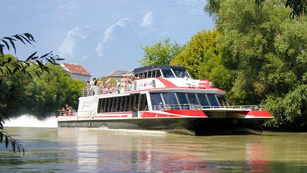 Der Twin City Liner - seit 10 Jahren schnelle Verbindung zwischen Wien und Bratislava (Bild: Chriss rhabek)