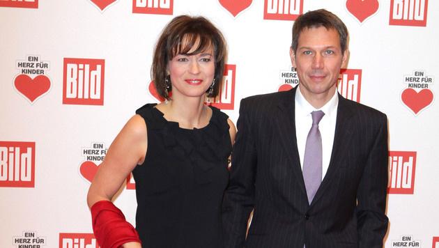 Maybritt Illner mit Rene Obermann, dem Ex-Vorstand der deutschen Telekom (Bild: Viennareport)