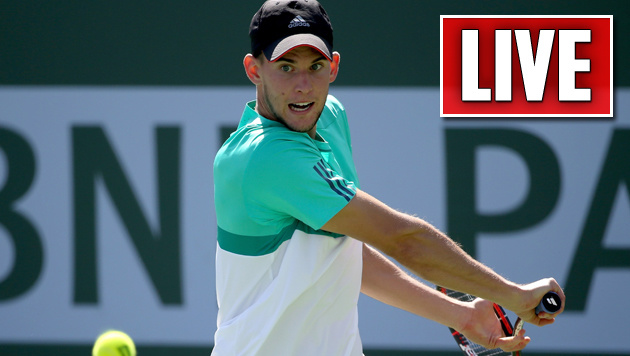 Liveticker: Thiem besiegt Sock in Indian Wells (Bild: APA/AFP/GETTY IMAGES/Sean M. Haffey)