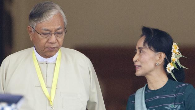 Myanmar: Erster ziviler Präsident seit 50 Jahren (Bild: AP)