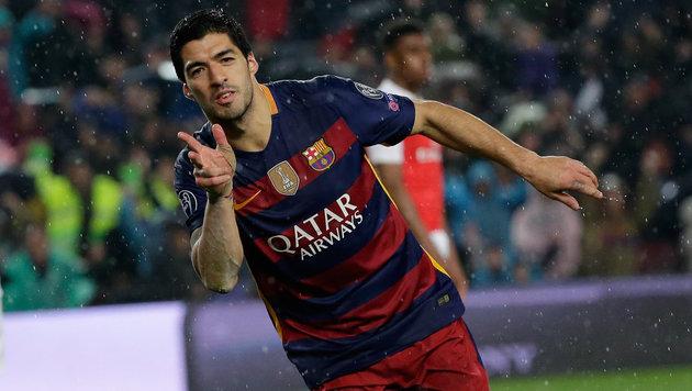 Barcelona stürmt über Arsenal ins CL-Viertelfinale (Bild: AP)