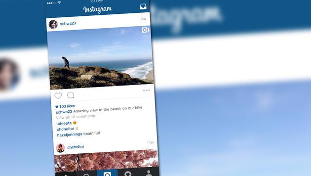 Instagram lässt Fotos nach Relevanz sortieren (Bild: Instagram, krone.at-Grafik)