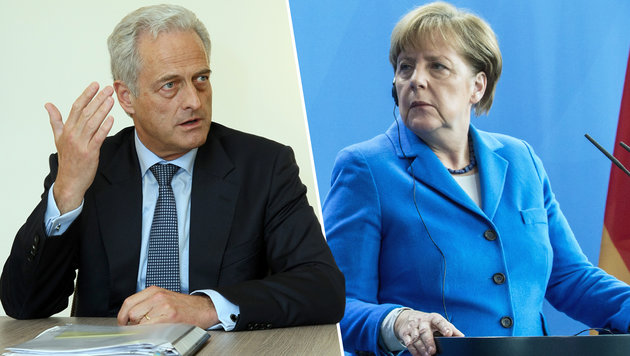 Ex-Verkehrsminister Ramsauer und Kanzlerin Merkel (Bild: Klemens Groh, dpa)