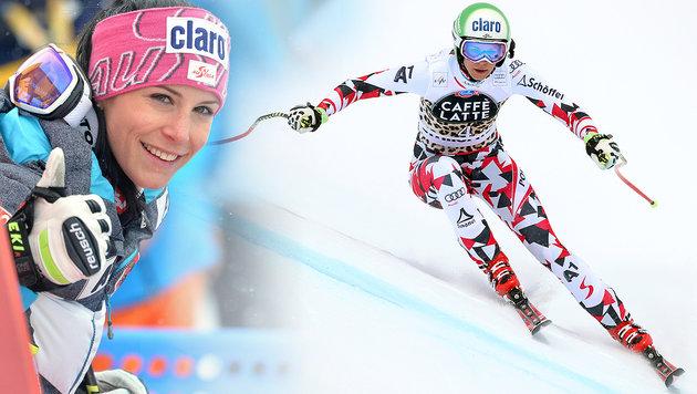 Mirjam Puchner feiert ersten Weltcup-Sieg! (Bild: APA/Barbara Gindl, GEPA)