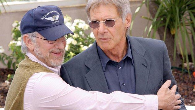 Steven Spielberg und Harrison Ford (Bild: Viennareport)