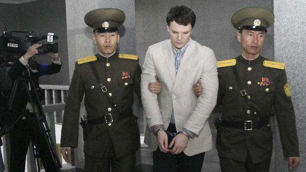 Nordkorea: 15 Jahre Arbeitslager für US-Studenten (Bild: AP)