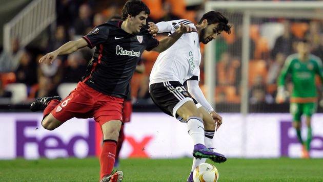 Heißer Zweikampf im Spiel Valencia gegen Bilbao (Bild: AFP or licensors)