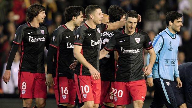 Freude bei den Bilbao-Kickern (Bild: AFP or licensors)