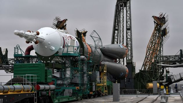 """Ein """"Soyus""""-Trägerrakete (Bild: APA/AFP/Kirill Kudryavtsev)"""