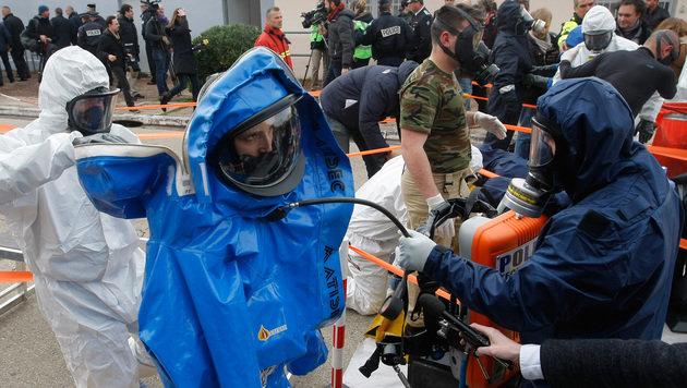 EM: Frankreich simuliert Bombenattacke in Fan-Zone (Bild: AP)