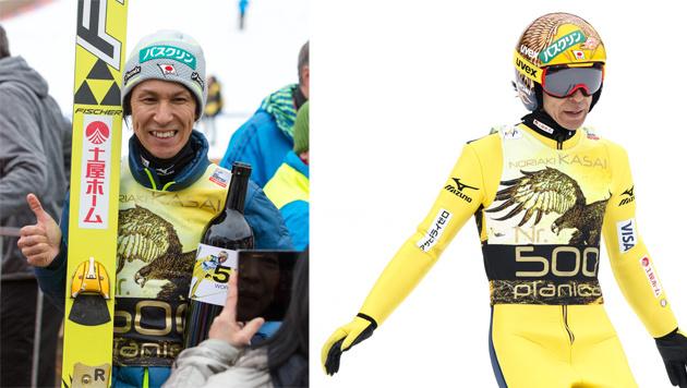 """""""Flug-Saurier"""" Noriaki Kasai: 500. Weltcup-Bewerb! (Bild: GEPA)"""