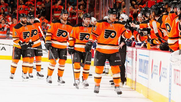 Flyers nach Sieg über Chicago auf Play-off-Platz (Bild: APA/AFP/GETTY IMAGES/AL BELLO)