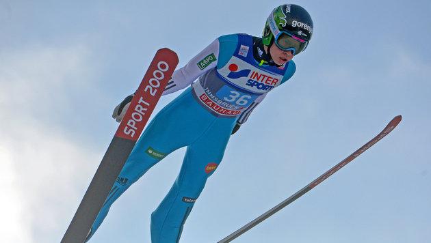 Junger Slowene stürzt bei Rekordjagd (Bild: GEPA)