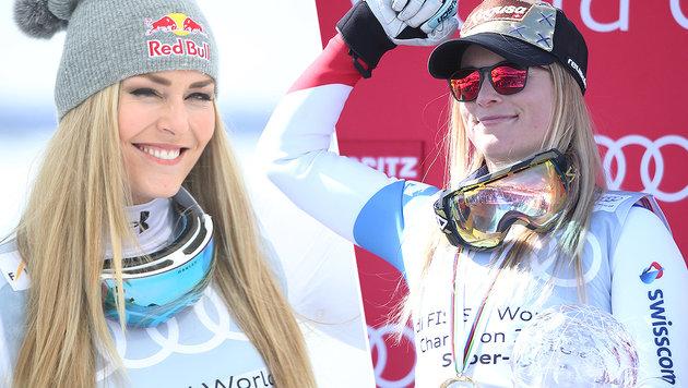Lindsey Vonn und Lara Gut haben sich wieder lieb (Bild: GEPA)