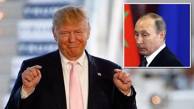 Ein neuer Trump-Wahlspot kommt im Kreml nicht so gut an. (Bild: ASSOCIATED PRESS, APA/AFP/POOL/MAXIM SHIPENKOV)