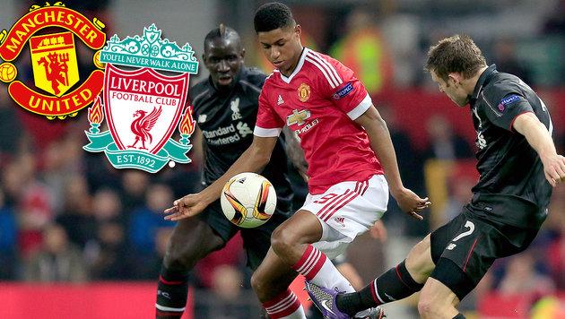 FC Liverpool wirft Rivalen ManU aus Europa League! (Bild: AP, Manchester, Liverpool)