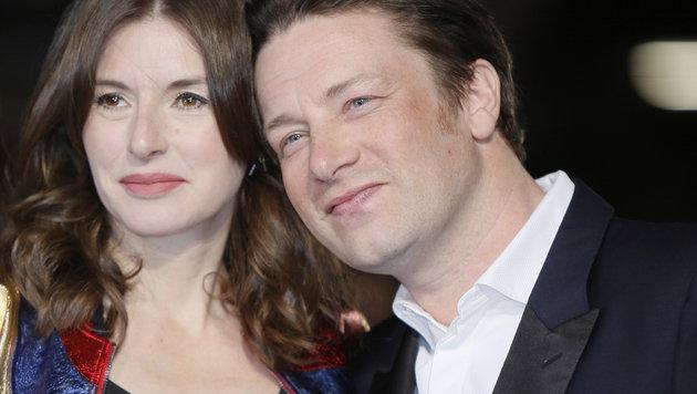 Jamie Oliver mit Ehefrau Jools (Bild: Viennareport)